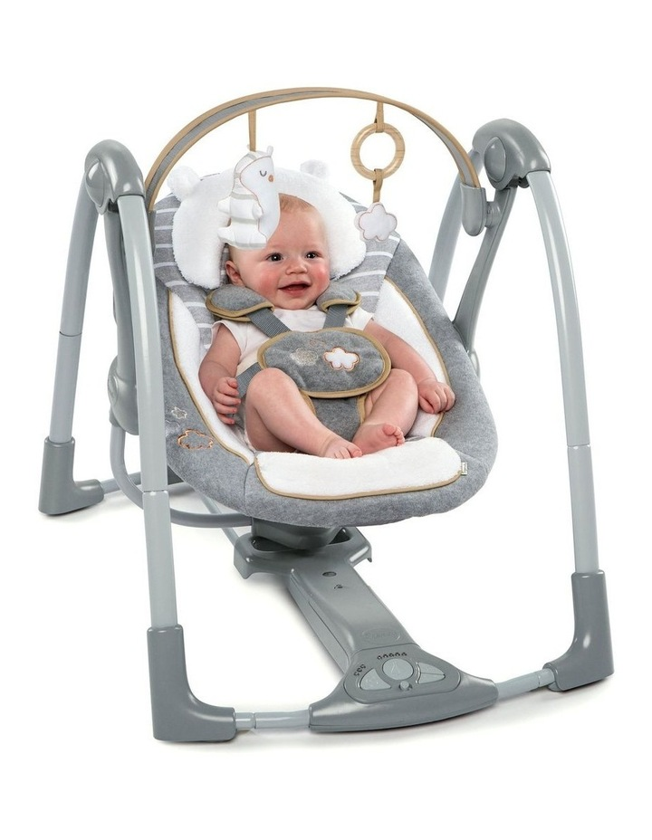 Boutique Collection Swing 'n Go Portable Swing - Bella Teddy image 3