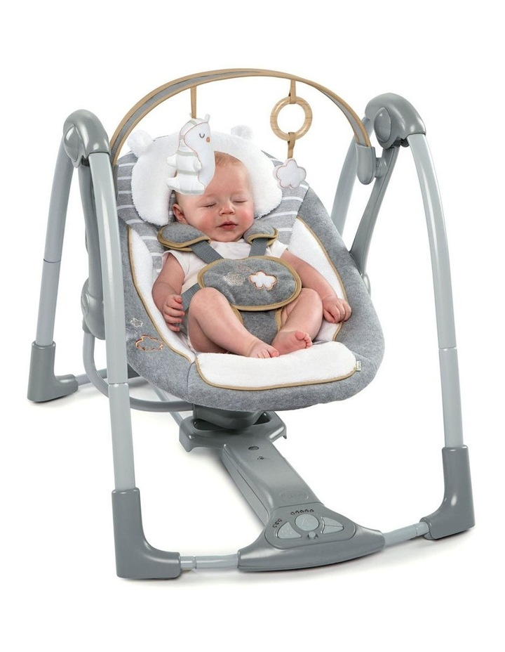 Boutique Collection Swing 'n Go Portable Swing - Bella Teddy image 4