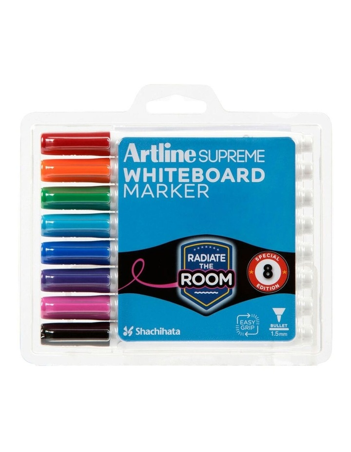 8pc  Supreme Whiteboard Markers - Assorted image 1