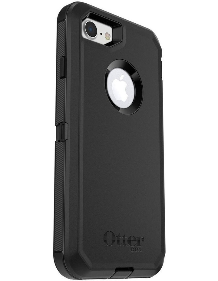 Defender Tough Shockproof Case w/Screen Protector for iPhone 7/8 Black image 1