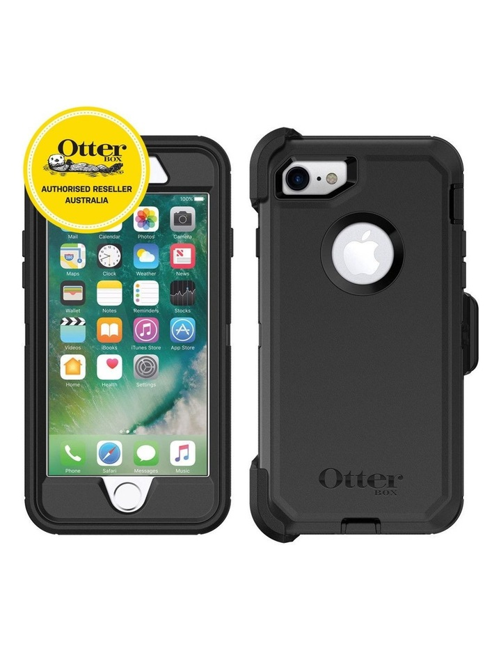 Defender Tough Shockproof Case w/Screen Protector for iPhone 7/8 Black image 2