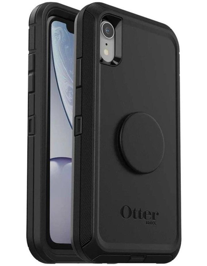 Otter Pop Defender Rugged Drop Proof Case w/Pop Grip for iPhone XR BLK image 1