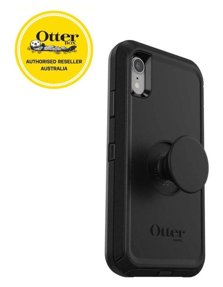 Otter Pop Defender Rugged Drop Proof Case w/Pop Grip for iPhone XR BLK image 3