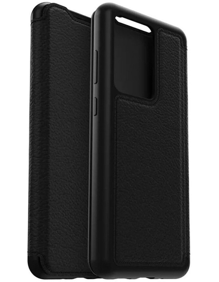 Strada Leather Case Cover Protect for Samsung Galaxy S20 Ultra Black image 1