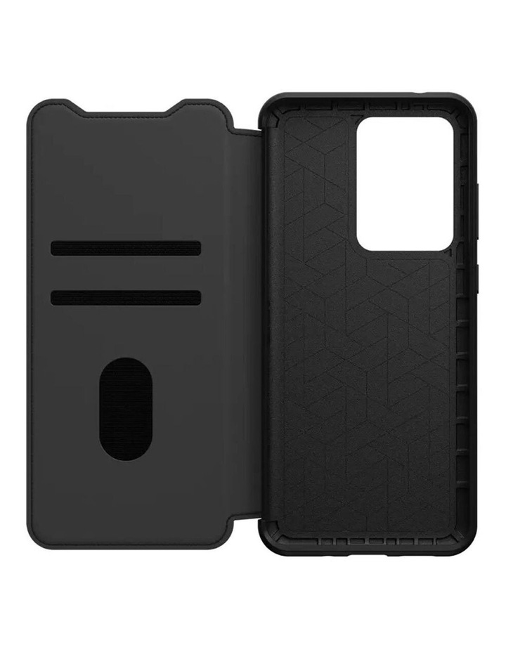 Strada Leather Case Cover Protect for Samsung Galaxy S20 Ultra Black image 2