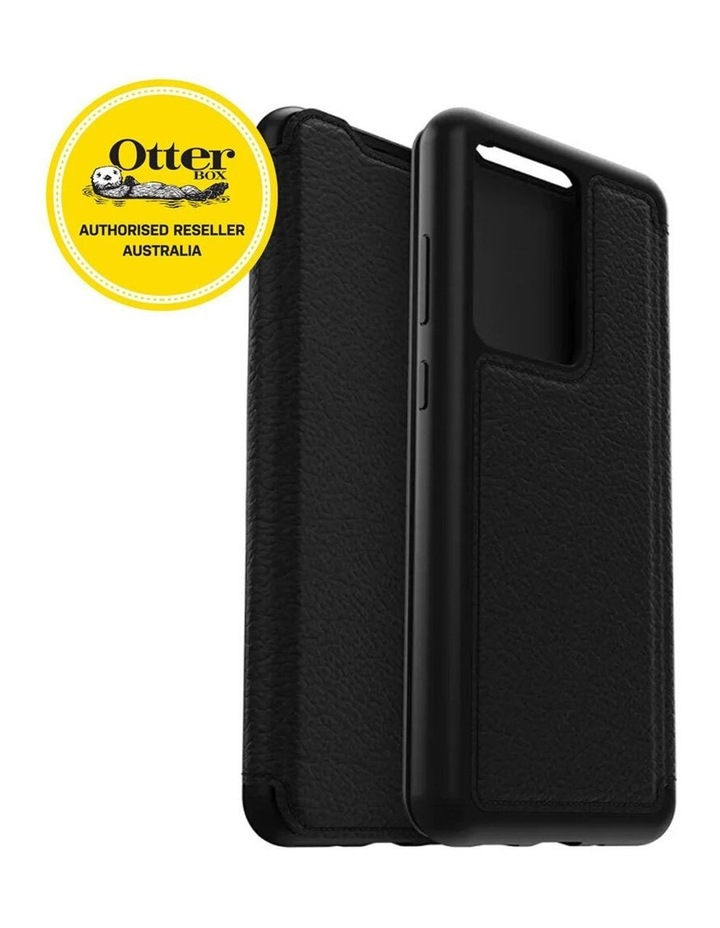 Strada Leather Case Cover Protect for Samsung Galaxy S20 Ultra Black image 3