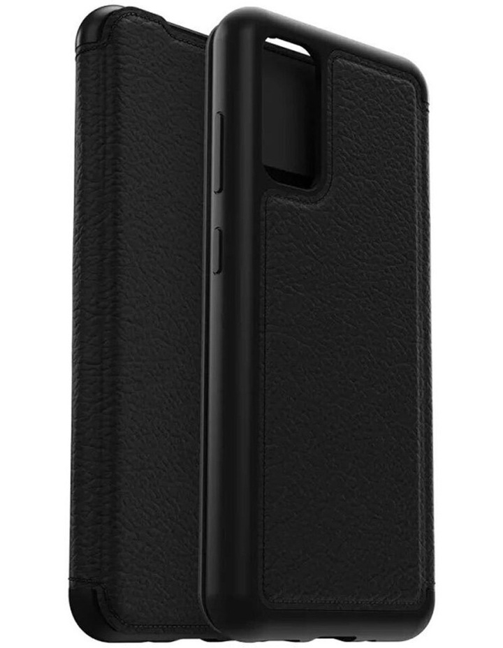 Strada Wallet Case Cover Leather Protection for Samsung Galaxy S20 BLK image 1