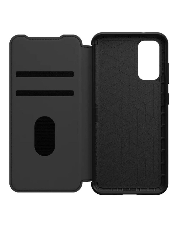 Strada Wallet Case Cover Leather Protection for Samsung Galaxy S20 BLK image 2