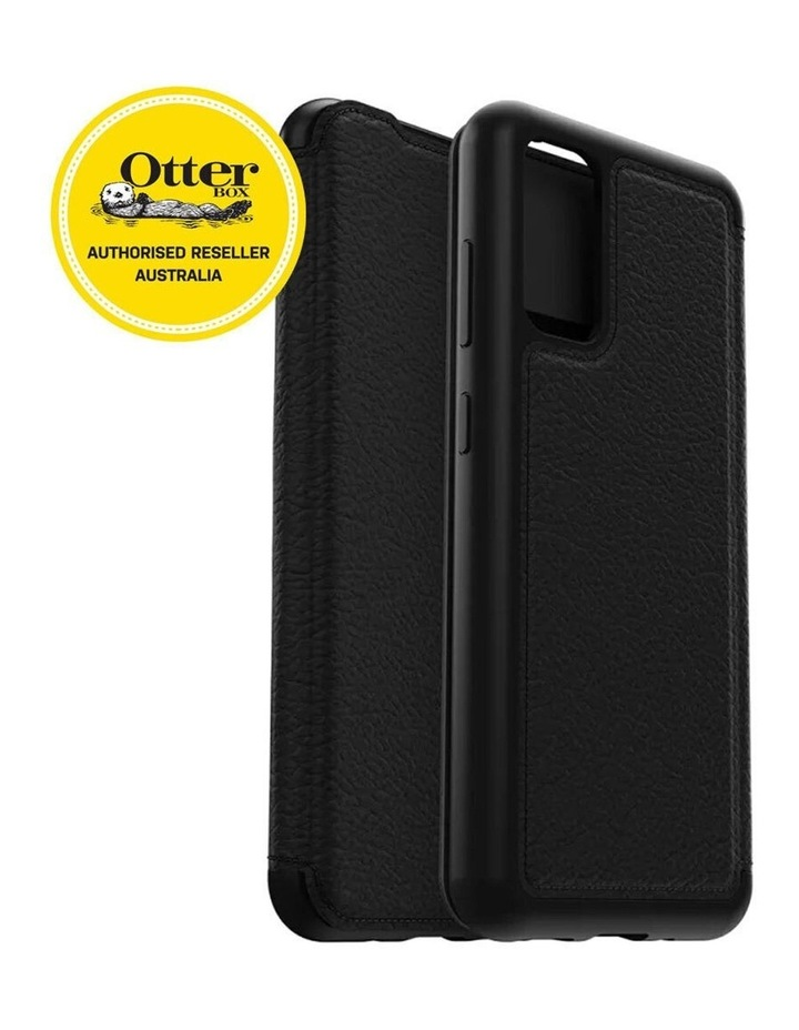 Strada Wallet Case Cover Leather Protection for Samsung Galaxy S20 BLK image 3