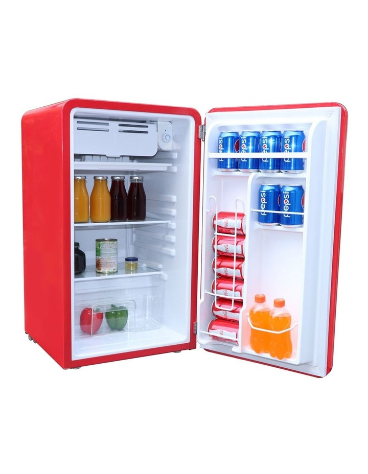 90L Retro Red Bar Fridge image 2