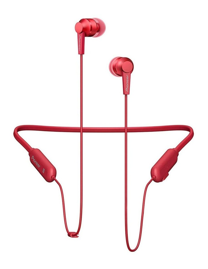 In-Ear Bluetooth Flexible Neck Band w/ Mic/Volume - Red image 1