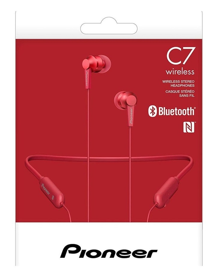 In-Ear Bluetooth Flexible Neck Band w/ Mic/Volume - Red image 4