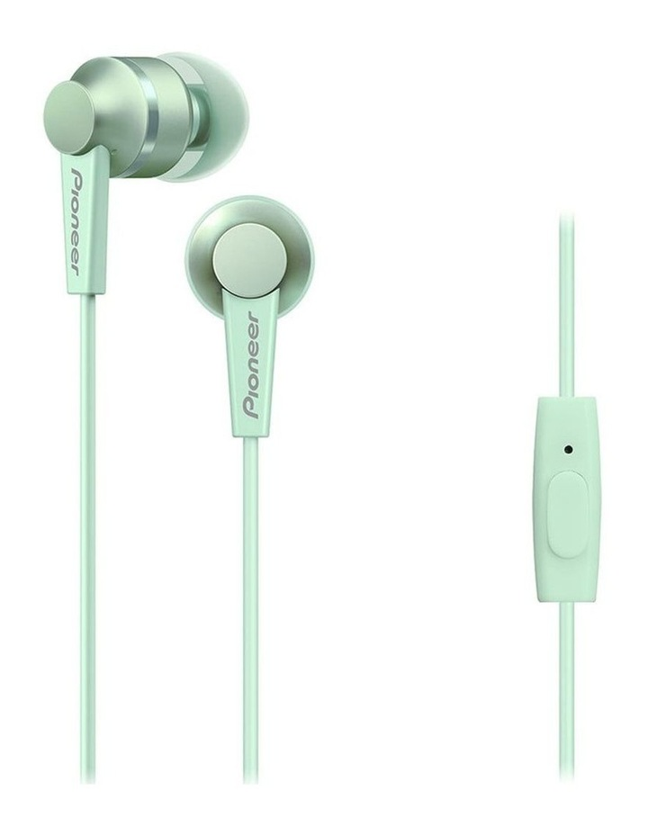 SE-C3T-GR In Ear Bud Headphones W/ Mic - Green image 1