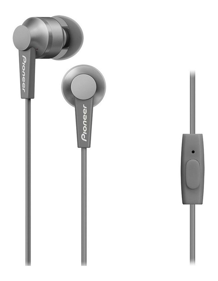 SE-C3T-H In Ear Bud Headphones W/ Mic - Grey image 1