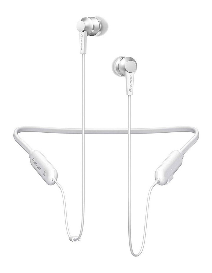 Bluetooth In Ear Flexible Neckband Headphones W/ Mic - White image 1