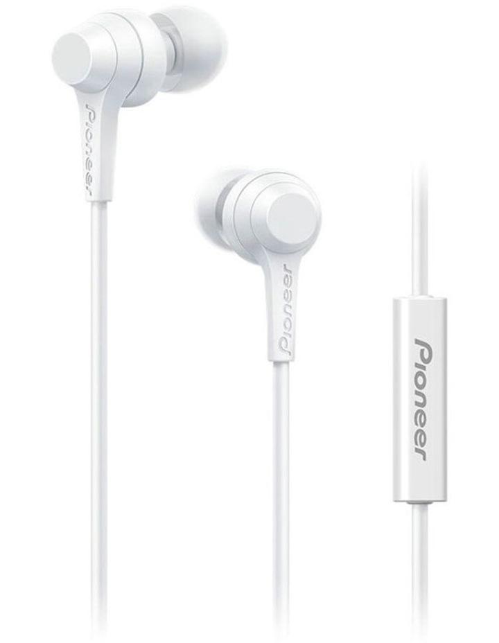 C1 In-ear Earphones w/ Mic - White image 1