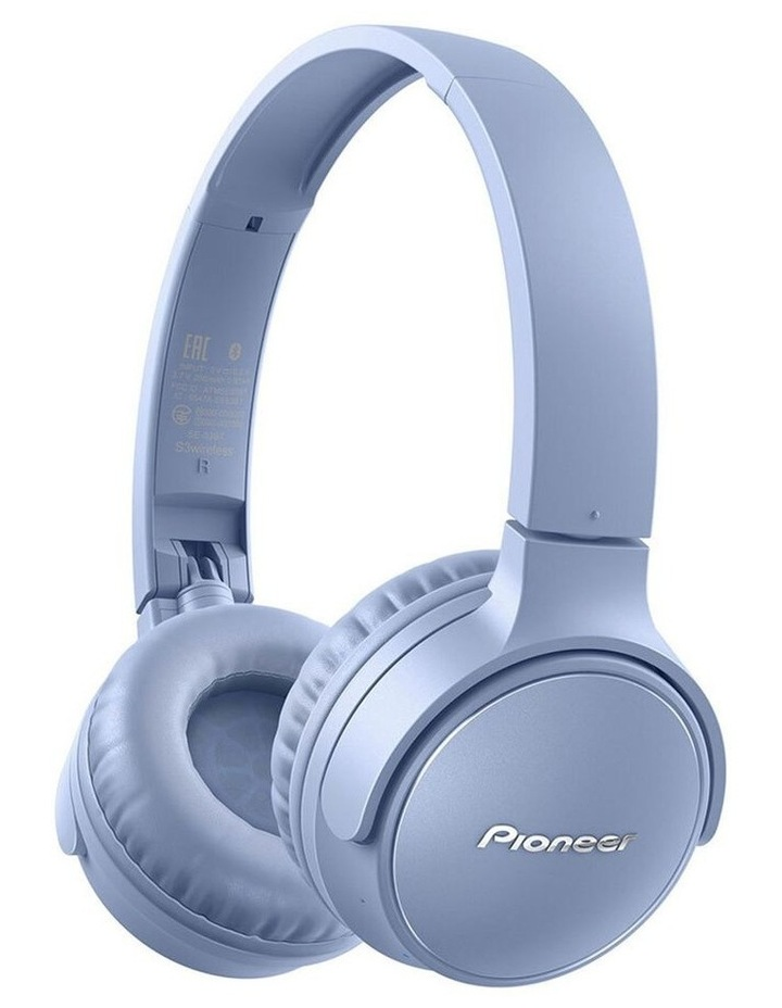 S3 Wireless On Ear Headphone w/ Mic - Blue image 1