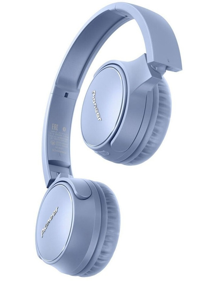 S3 Wireless On Ear Headphone w/ Mic - Blue image 2