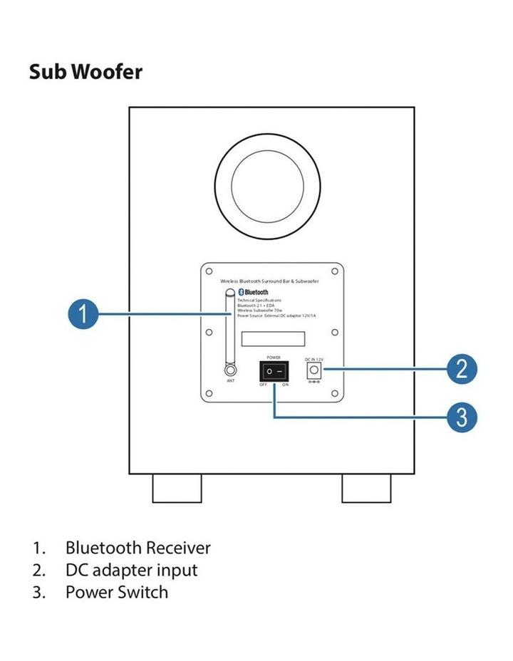 SBW-175 Bluetooth Sound-bar w/ Wireless Subwoofer image 6