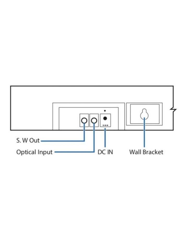 SBW-175 Bluetooth Sound-bar w/ Wireless Subwoofer image 7