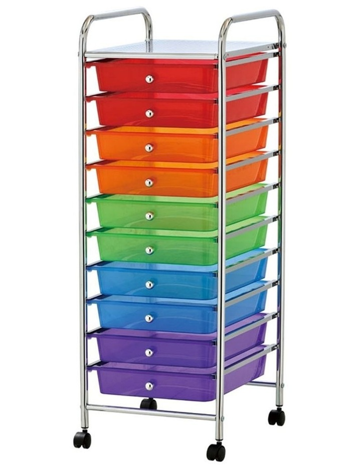 Portable 10 Drawer Storage Roller - Multicoloured image 1