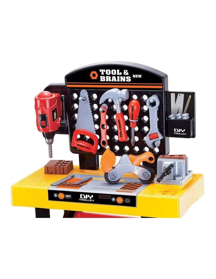 Kids/Children Diy Workbench Tools Pretend Role Play Toy Set/Saw Drill Hammer Nut image 2