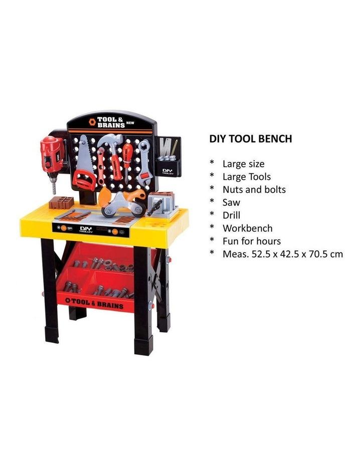 Kids/Children Diy Workbench Tools Pretend Role Play Toy Set/Saw Drill Hammer Nut image 4