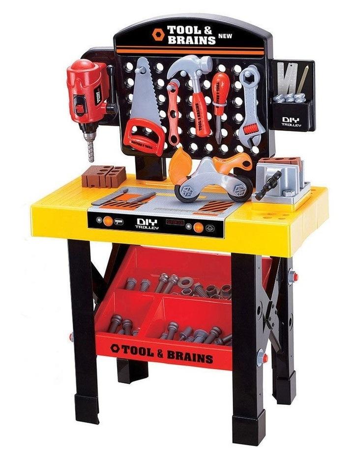 Kids/Children Diy Workbench Tools Pretend Role Play Toy Set/Saw Drill Hammer Nut image 5