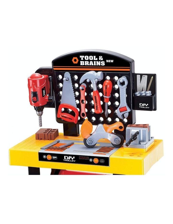 Kids/Children Diy Workbench Tools Pretend Role Play Toy Set/Saw Drill Hammer Nut image 6