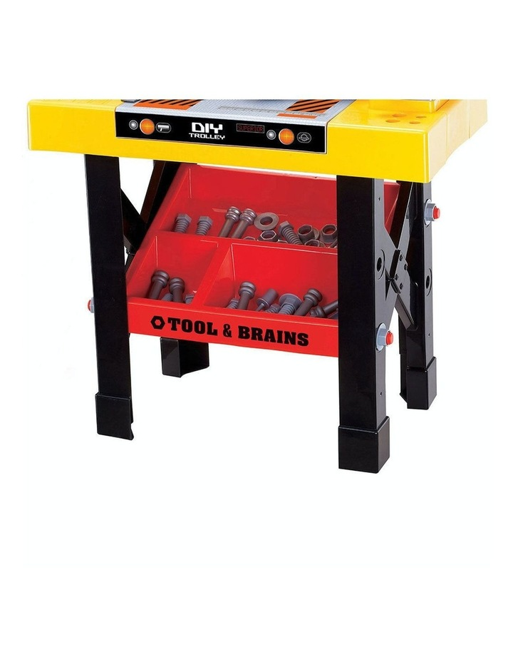 Kids/Children Diy Workbench Tools Pretend Role Play Toy Set/Saw Drill Hammer Nut image 7