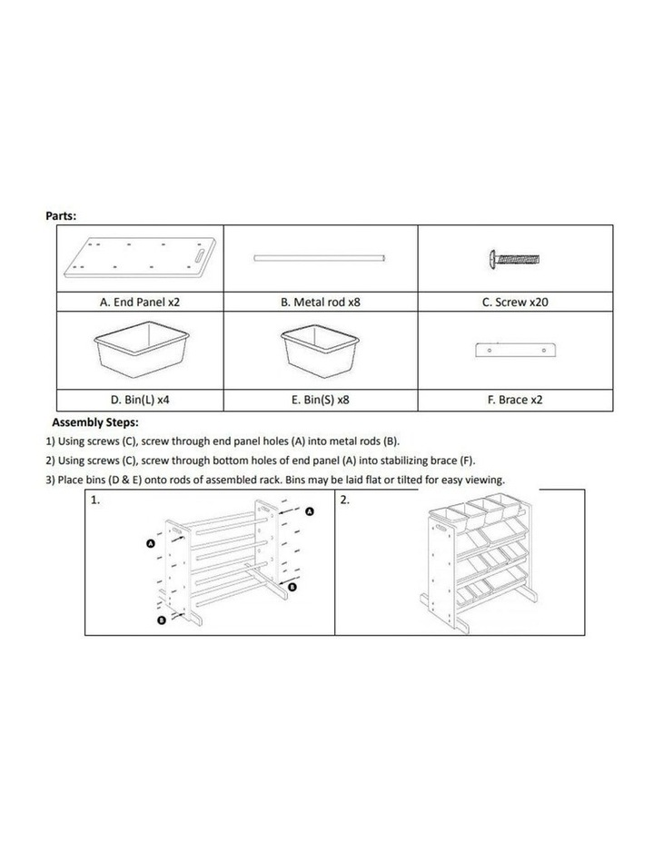 Toy Organiser - 12 Bin Shelf Storage image 3