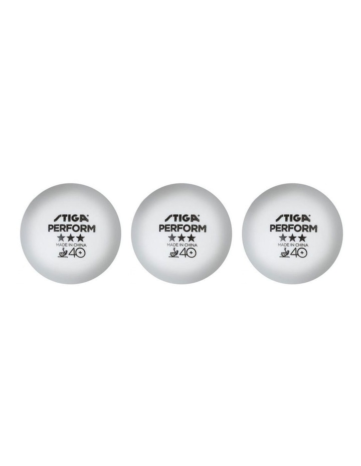 3 Piece Perform 3 Star 40  ABS Table Tennis Ball - White image 1