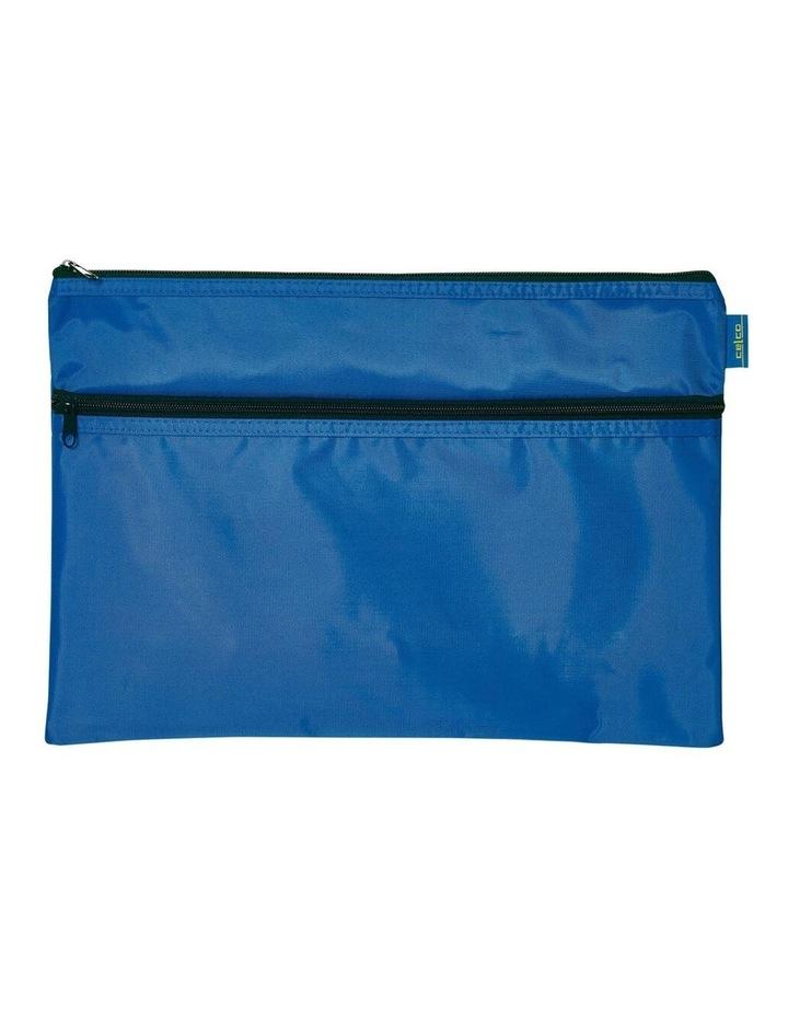 Celco Nylon 2 Zipper Pencil Case Large - Blue image 1