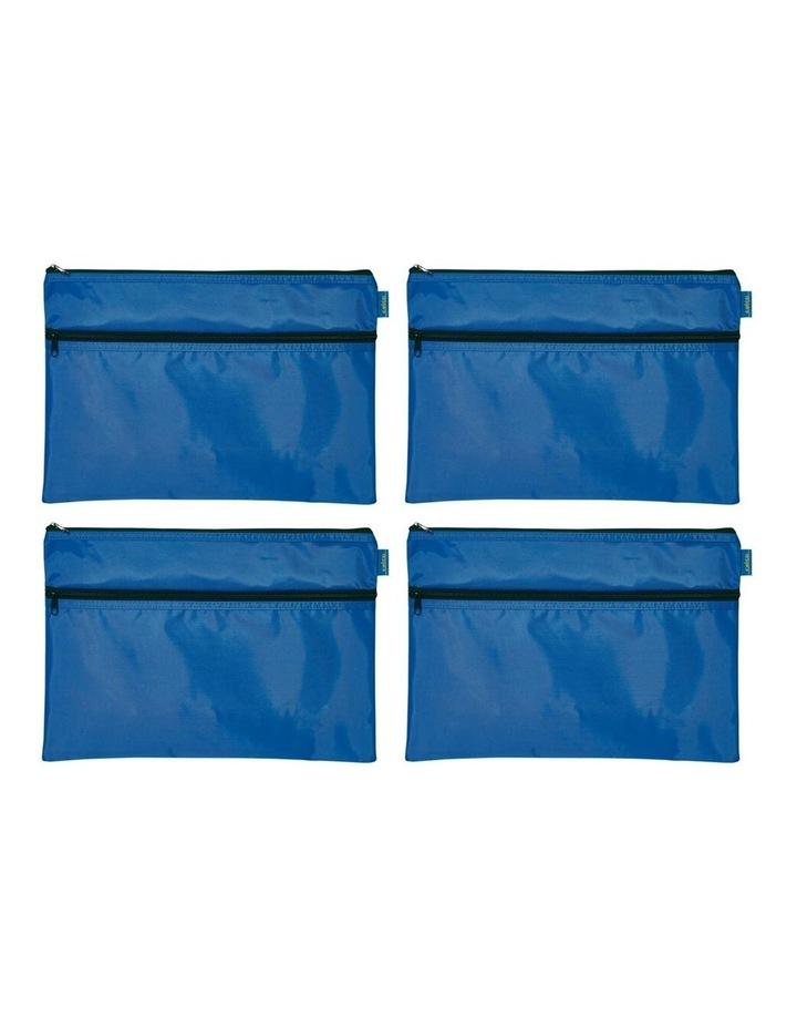 Celco Nylon 2 Zipper Pencil Case Large - Blue image 2