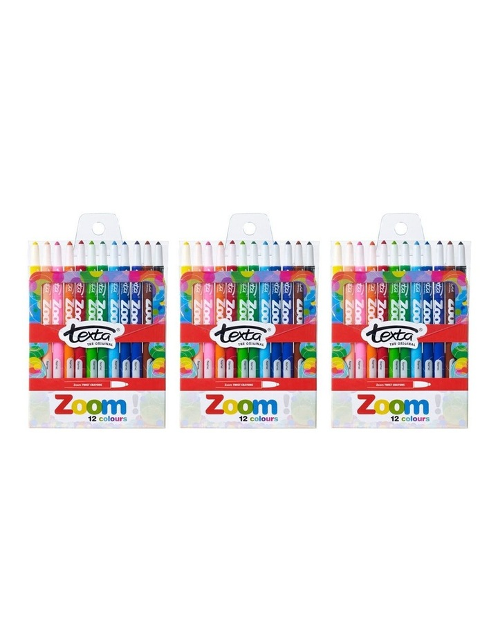 12pc Texta The Original Zoom Crayons image 2