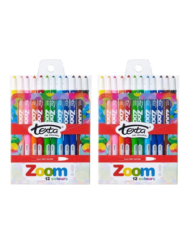 12pc Texta The Original Zoom Crayons image 3