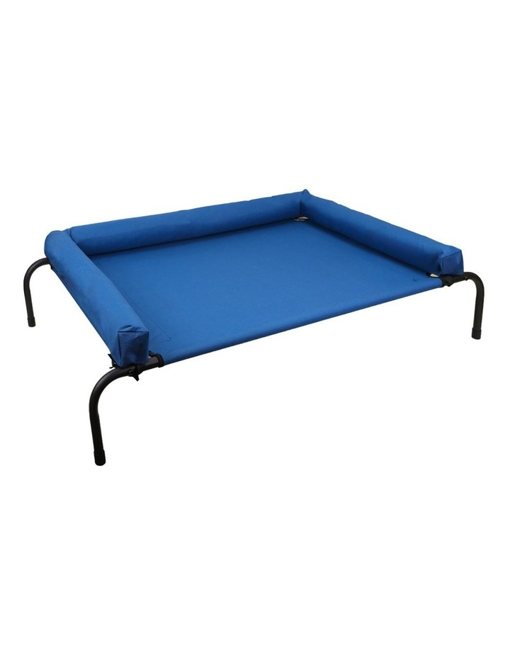Elevated Bolster Large Pet Bed 122x72x29cm - Blue image 1