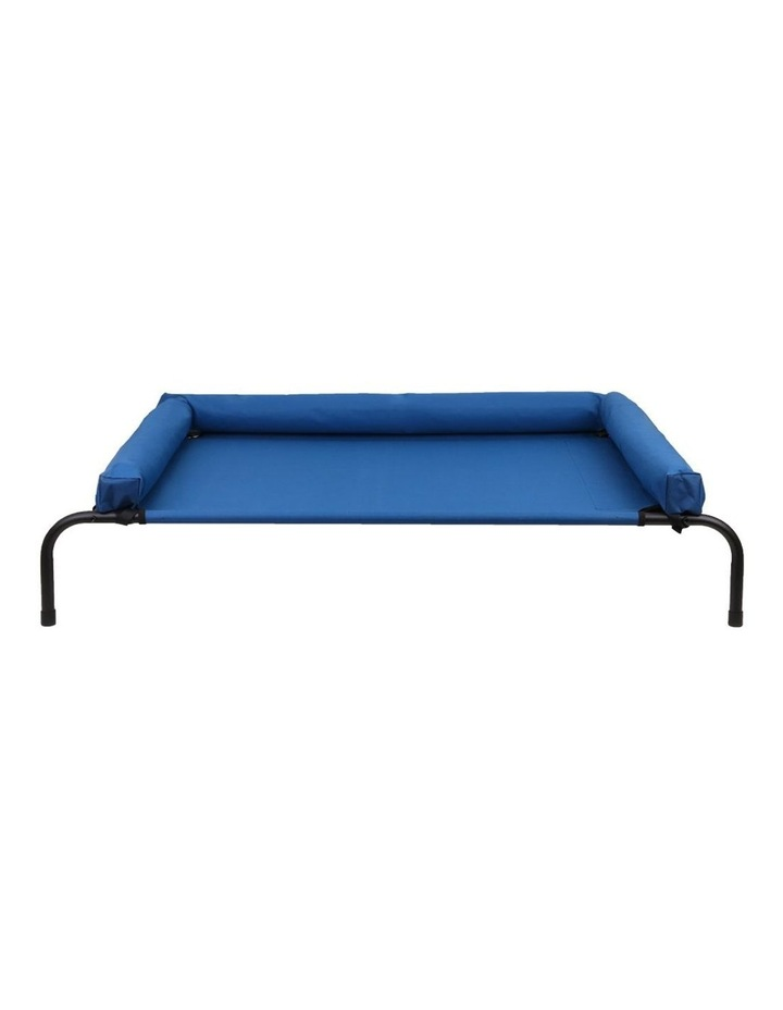 Elevated Bolster Large Pet Bed 122x72x29cm - Blue image 2
