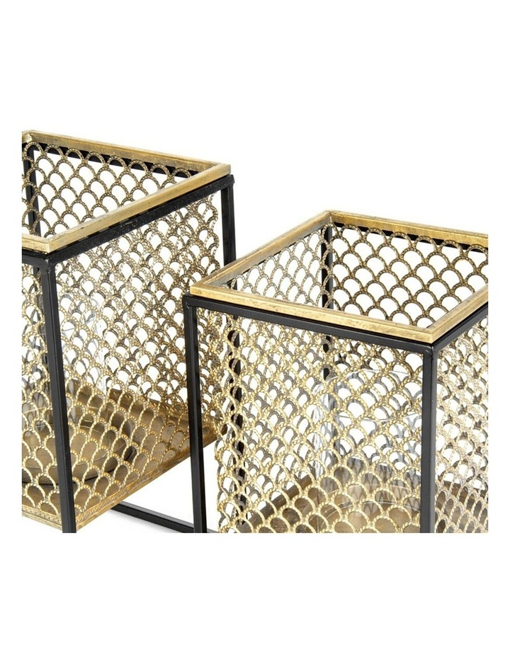 2 Piece Nested Square Lustre Floating Lanterns 18x28/16.5x23cm image 4