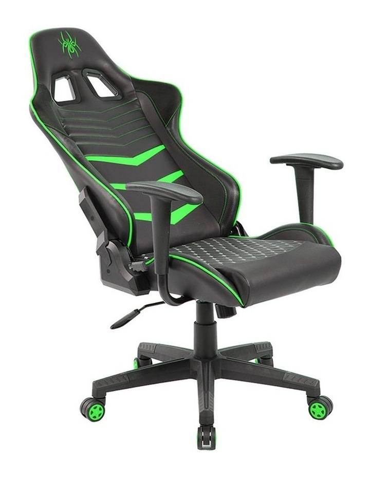 Spider Iron Gaming Chair - Black/Green image 2