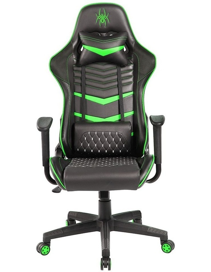 Spider Iron Gaming Chair - Black/Green image 4