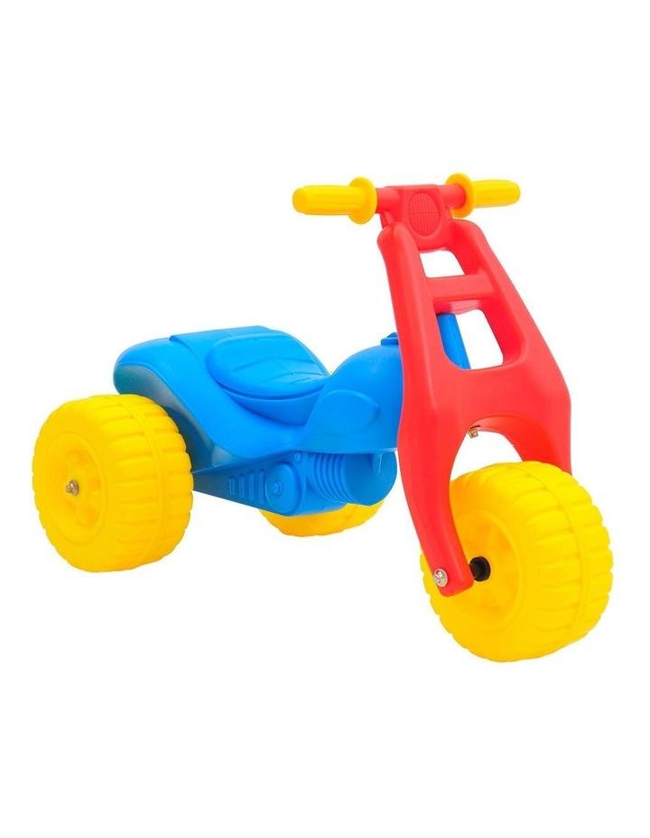 ATV Push Kick 3 Wheel Trike Junior/Toddler/Kids 1-3y Ride-On Toy Blue/Red image 1