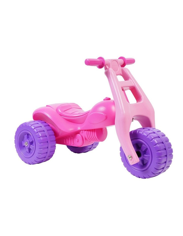ATV Push Kick 3 Wheel Trike Junior/Toddler/Kids 1-3y Ride-On Toys Pink image 1