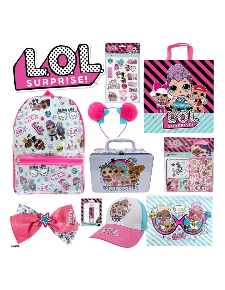 Showbag With Backpack/Bow/Headband/Pencil Case/Lip Balm/Cap/Tin Case image 1