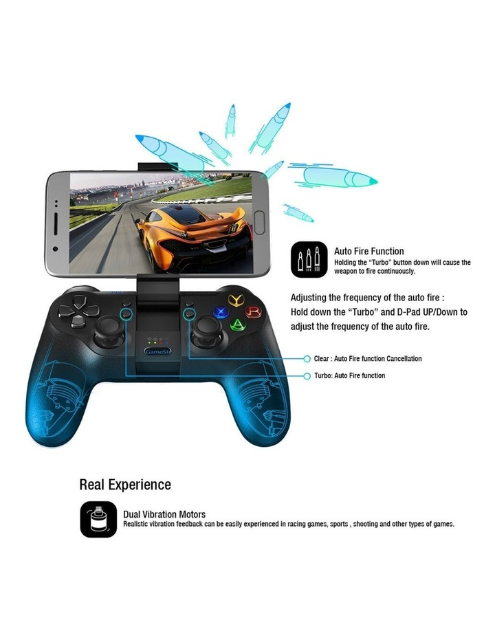 Wired/Wireless T1s Switch/Android/PC Gaming Controller w/ Phone Holder image 7