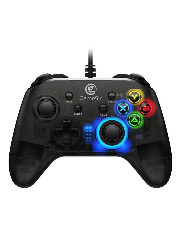 Wired T4w Ergonomic Windows PC/USB-C Gaming Controller w/ LED Backlight image 1
