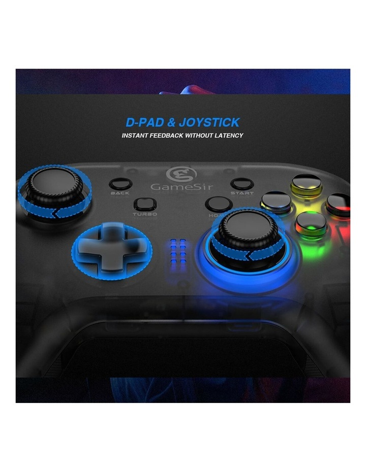 Wired T4w Ergonomic Windows PC/USB-C Gaming Controller w/ LED Backlight image 2