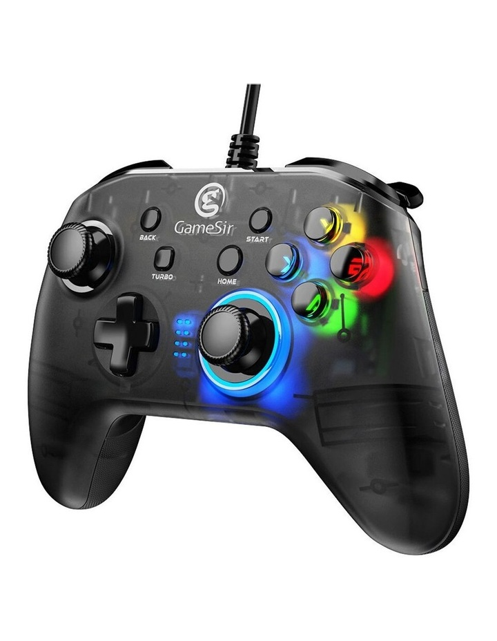 Wired T4w Ergonomic Windows PC/USB-C Gaming Controller w/ LED Backlight image 3