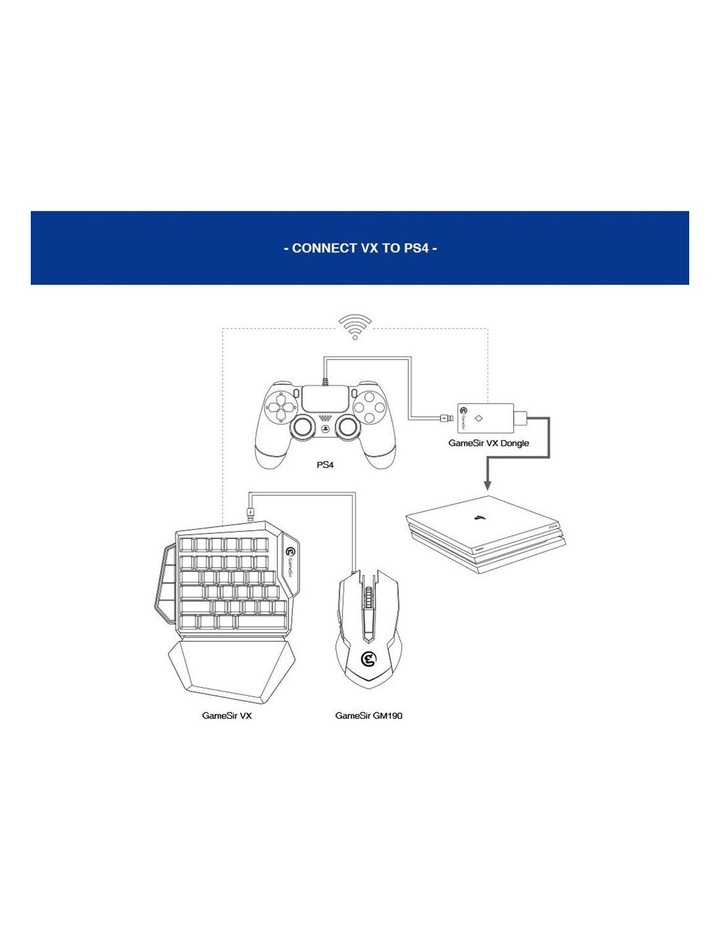 VX AimSwitch Wireless Gaming Xbox/PS4/Switch Mechanical Keyboard/Mouse image 2