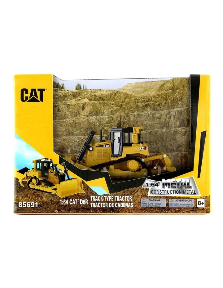 1:64 Scale Diecast Metal D6R Bulldozer Tractor Kids/Children Toy Yellow image 2